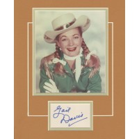 "Gail Davis as Annie Oakley signed 11x14"" matted display."
