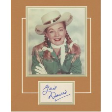 """Gail Davis as Annie Oakley signed 11x14"""" matted display."""