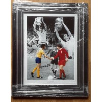 FRANK McLINTOCK, ARSENAL 1971 FA CUP,SIGNED & FRAMED PHOTO.