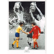 """Arsenal Frank McLintock signed 16x12"""" 1971 F.A Cup final montage."""