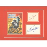 "Mighty Joe Young signed 16x12"" double matted display."