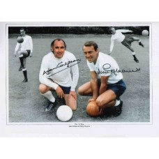 Spurs Legends (The 'G' Men) hand signed photograph by Alan Gilzean & Jimmy Greaves