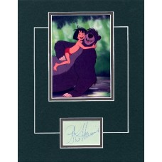 """The Jungle Book, Phil Harris, 11x14"""" matted double matted display."""