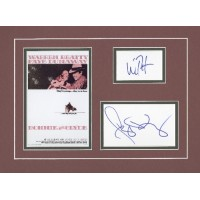 """Bonnie & Clyde 12x16"""" double matted display signed by Warren Beatty & Faye Dunaway."""