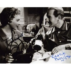 Carry On Nurse signed b/w photograph by Leslie Phillips & June Whitfield.
