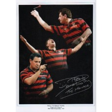 """Dennis 'The Menace' Priestley signed 16x12"""""""