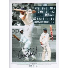 Graham Gooch personally hand signed 16x12 montage