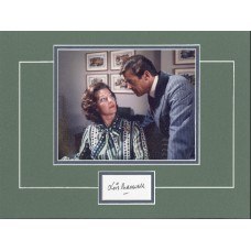 """LOIS MAXWELL 12x16"""" double matted display as Miss Moneypenny - James Bond."""