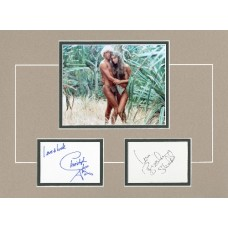 "The Blue Lagoon 12x16"" double matted display hand signed by Brooke Shields & Chris Atkins."