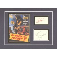 "The Man From Planet X  signed 16x12"" double matted display."